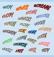comic sound t-shirt print vector image
