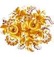 Golden isolated floral element vector image
