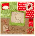 Christmas Reindeer Set vector image vector image