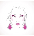 Front expressive look of fashion woman vector image