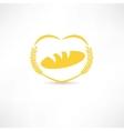 Bread symbol icon vector image vector image