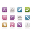 school and office icons vector image vector image