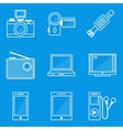 Blueprint icon set Device vector image