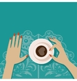 Flat cup of coffee vector image