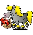 Hand-drawn of an Pony Horse vector image