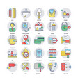 home services icons set vector image