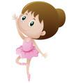 little girl dancing ballet vector image