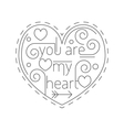 Lline art concept with valentine day symbol vector image