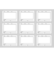 Storyboard template for film story vector image