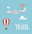 travel concept flat design plane vector image