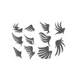 wing collection set vector image