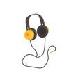 yellow headphones cartoon vector image