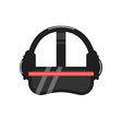 VR helmet icon vector image vector image