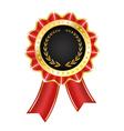 Award Label with Ribbon vector image vector image