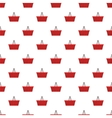 Red shopping basket pattern cartoon style vector image