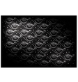 Black Vintage Wallpaper with Abstract Pattern vector image