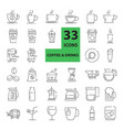 outline web mono symbol icon set - drink vector image