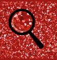 seamless bright red glitter texture shimmer vector image