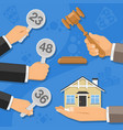 sale of real estate at auction vector image vector image