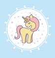 hand drawn cute unicorn icon vector image