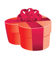 Heart shaped red gift box vector image vector image