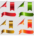 colorful ribbons set vector image