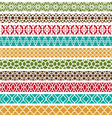 Moroccan border patterns vector image