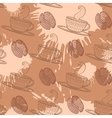 Coffee seamless pattern vector image