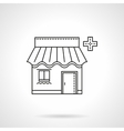 Pharmacy facade flat thin line icon vector image