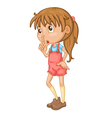 Cute girl standing vector image vector image
