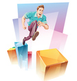 Jumping Up vector image