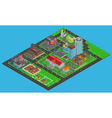 Modern City Isometric Map vector image