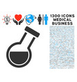 retort icon with 1300 medical business icons vector image