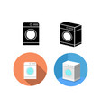 set of washing machine icons in vector image