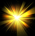 Star with rays white yellow in space isolated and vector image
