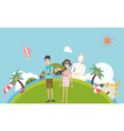 tourism travel to thailand with traditional vector image