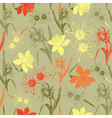 Vintage daffodil Flowers pattern vector image
