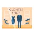 Clothes shop facade vector image vector image