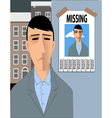 Feeling lost vector image vector image