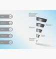 3d infographic template with sloping triangle vector image