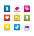 Social media icon sets vector