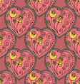 Seamless Pattern Hearts vector image