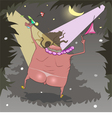 fat naked guy dancing vector image vector image