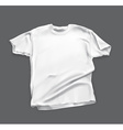 Blank white shirt vector image