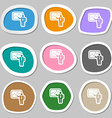businessman making report icon symbols vector image
