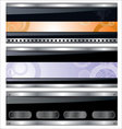 banners metallic set vector image