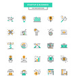 Flat Line Color Icons Business vector image vector image