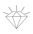 diamond cartoon icon image vector image