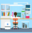 flat science chemistry laboratory vector image