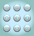 Glossy media player buttons vector image